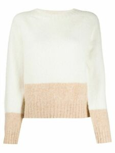 YMC colour block jumper - White
