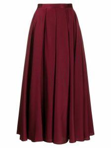 Blanca Vita pleated A-line skirt - PURPLE