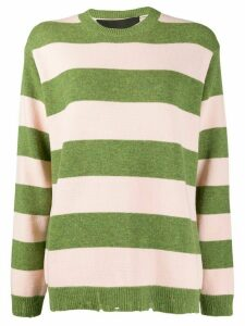Marc Jacobs stripe print jumper - PINK
