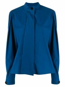 Lemaire asymmetric mandarin collar shirt - Blue