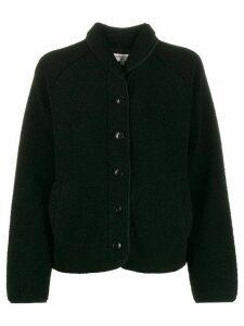 YMC buttoned shearling jacket - Black