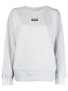 adidas crew neck logo sweatshirt - Grey