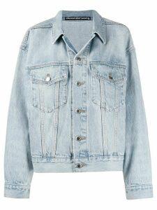 Alexander Wang button-up denim jacket - Blue