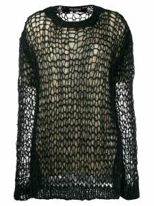 Junya Watanabe lattice knit jumper - Black