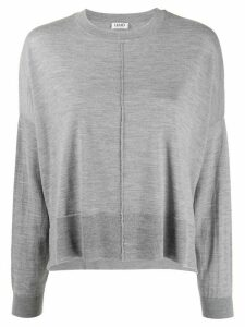 LIU JO crew neck loose-fit jumper - Grey