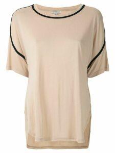 Alcaçuz Natividade panelled blouse - NEUTRALS
