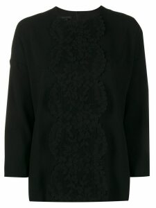 Escada 3/4 sleeves lace-detail blouse - Black