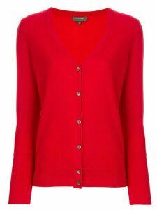 N.Peal V-neck cardigan - Red