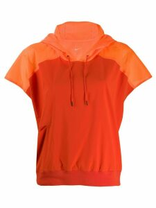 Nike drawstring hood T-shirt - ORANGE