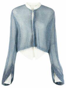 PHAEDO STUDIOS hybrid shirt cardigan - Blue