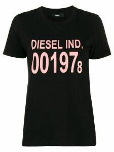 Diesel T-Sily log print T-shirt - Black