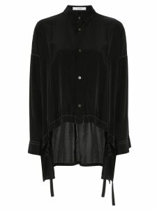 Ujoh drawstring hem blouse - Black