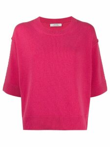 Dorothee Schumacher oversized short-sleeve jumper - PINK