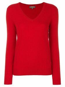 N.Peal V-neck jumper - Red
