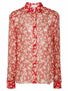 HVN Cristina silk blouse - Red