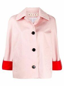 Marni boxy colour-block jacket - PINK