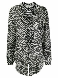 Saint Laurent animal print shirt - Black