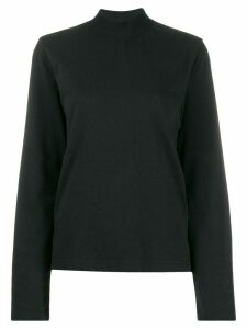 YMC ribbed high neck jumper - Black