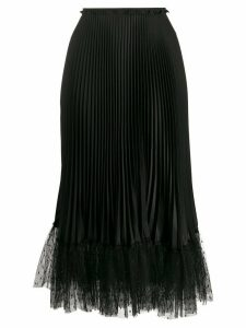 RedValentino tulle hem pleated skirt - Black