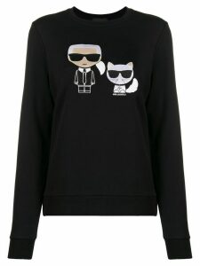 Karl Lagerfeld Ikonik Karl Choupette jumper - Black