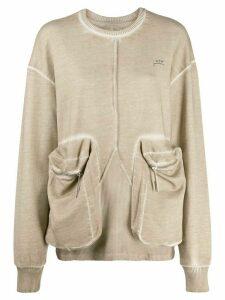 A-COLD-WALL* Overlock printed logo sweatshirt - NEUTRALS