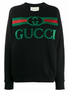 Gucci oversized logo sweatshirt - Black