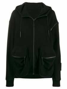 A-Cold-Wall* asymmetric logo patch hoodie - Black