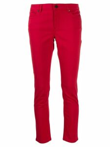 Escada Sport cropped slim trousers - Red