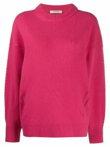 Dorothee Schumacher punch-hole detail jumper - PINK