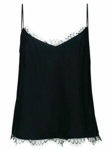 Kiki de Montparnasse silk slip top - Black