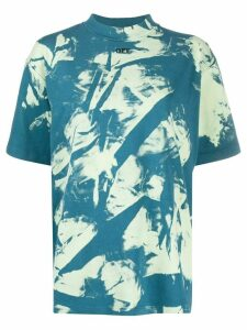 Off-White tie-dye cotton T-shirt - Blue