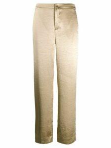 Vince metallic wide leg trousers - GOLD