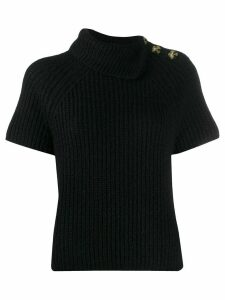 Ermanno Ermanno short-sleeved ribbed jumper - Black