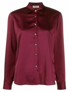 Blanca Vita point-collar satin shirt - Red
