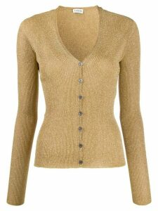 LANVIN v-neck cardigan - GOLD