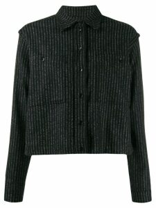 YMC striped boxy shirt - Black
