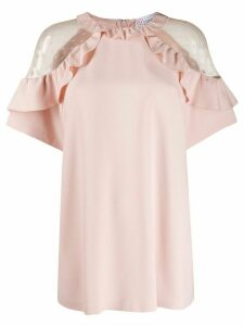 RedValentino tulle insert blouse - PINK