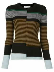 Proenza Schouler White Label stripes fine gauge rib knit top -
