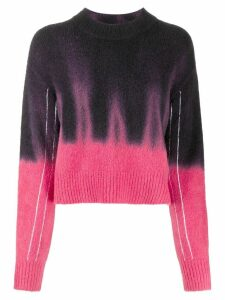 Proenza Schouler tie-dye crew neck sweater - Black