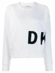 DKNY logo print sweatshirt - White