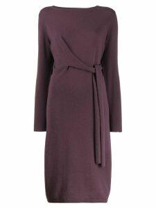 Fabiana Filippi knotted midi dress - PURPLE