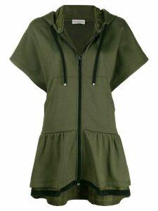 Moncler sleeveless zip-front hoodie - Green