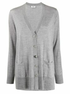 LIU JO V-neck loose-fit cardigan - Grey