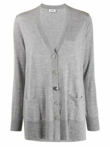 LIU JO V-neck loose-fit cardigan - Grey