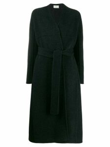 The Row Luisa collarless belted coat - Grey
