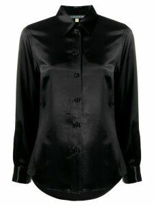 Alexa Chung tailored curved hem shirt - Black