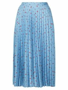 HVN Tracy pleated skirt - Blue