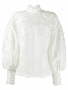Zimmermann Super Eight embroidered shirt - White