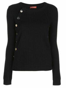 Altuzarra cashmere buttoned jumper - Black