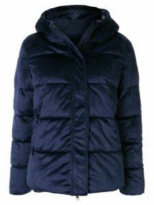 Unreal Fur panelled padded jacket - Blue